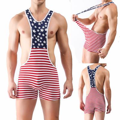 Homens Macacão de Algodão Bodysuit Mens Swimwear Sexy Gay Homens Cueca Topo 2016New Sexy Lingerie Masculino One Piece Underwear