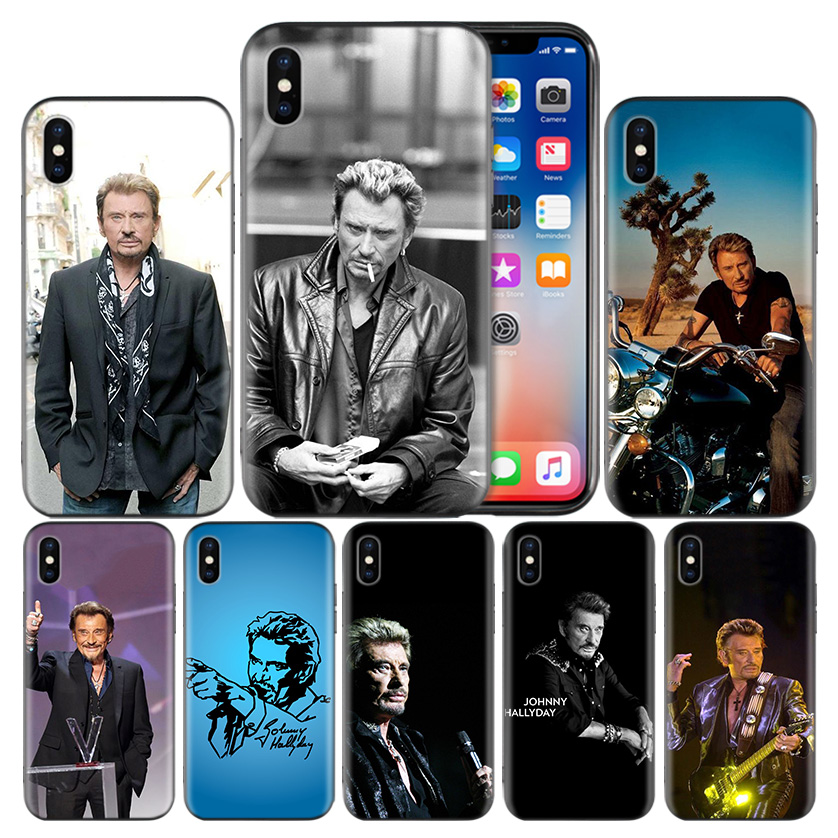 Johnny Hallyday Frosted Fundas Case For Apple iPhone 7 8 6 6S Plus X XS MAX XR 5 5S 5C SE 10 Ten Protect Cover Coque