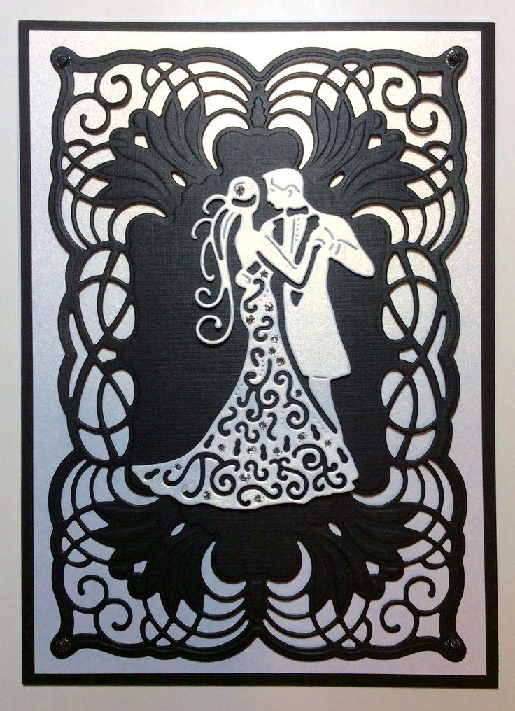 Свадебная открытка вытынанка трафарет, анимация днем бабушек