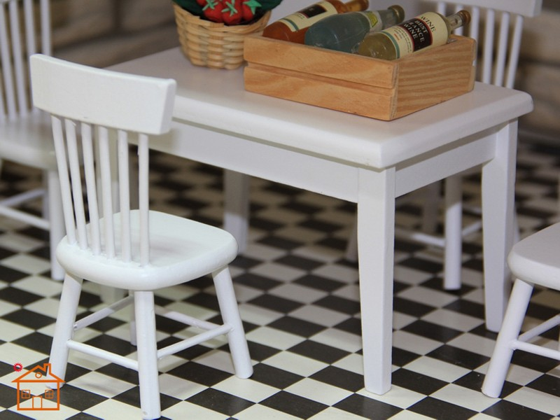 Dining table and chair set doll house 4