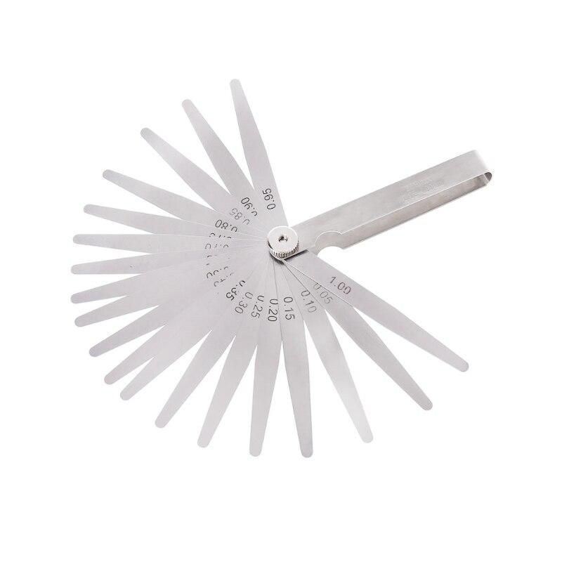 0,05-1 мм 20 лезвие щупа Калибр толщина измерительный инструмент метрический зазор наполнитель