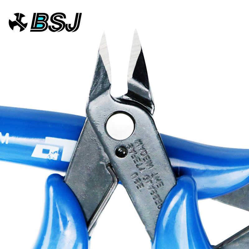 Listrik Kawat Kabel Pemotong Cutting Side Snips Flush Tang Nipper Anti-Slip Karet Mini Diagonal Tang Alat Tangan