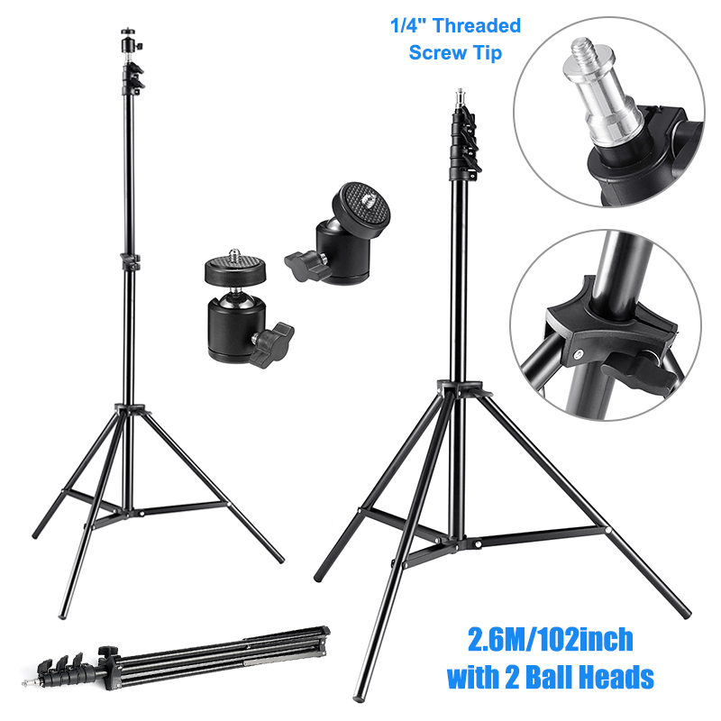 2pcs 2.6M Adjustable Light Tripod Stands VR Holder Lamp Umbrella Stand Tripod Lighting Kit for HTC VIVE/ VIVE Pro Game Stand