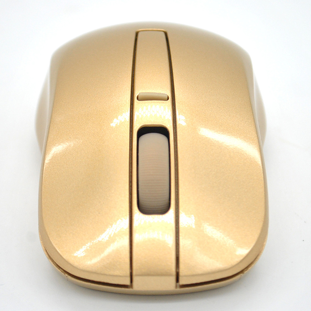 a75e0582339 Hot Sale 2.4GHZ Wireless Mouse Gaming Mouse for Laptop PC Computer Gamer  accessories Tyrant gold Super Cool