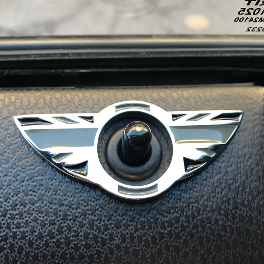 2Pcs Car Interior Door Pin Lock Wing Emblem Badge Stickers for Mini Cooper S Countryman Paceman R60 R61 Car Styling Accessories cooper j f wing and wing or le feu follet
