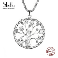 Hot Sale Silver Family Tree Pendant With Rhinestone Necklaces For Women Luxury Jewelry Gift