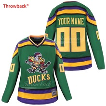 цена на Throwback Jersey Women Duck Jersey Ice Hockey Jerseys Customized Name Number Colour White Size S-XXXL Free Shipping