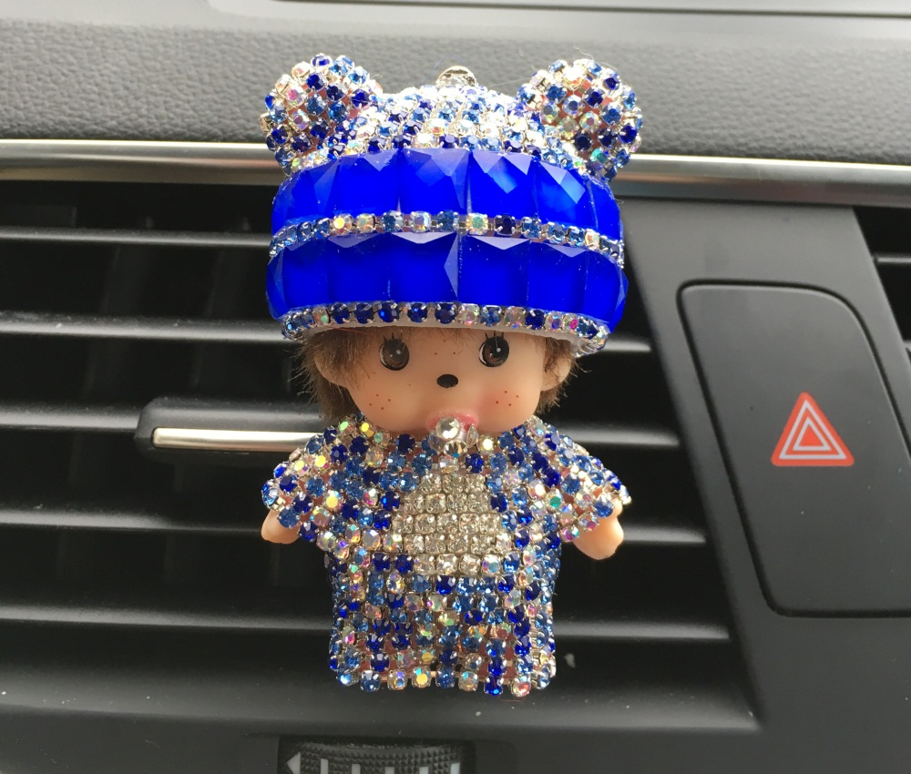 Kiki Car Perfume Clip Lady Car Air Freshener Cute Little Monkey Car Styling hat Perfumes 100 Original Doll accessories