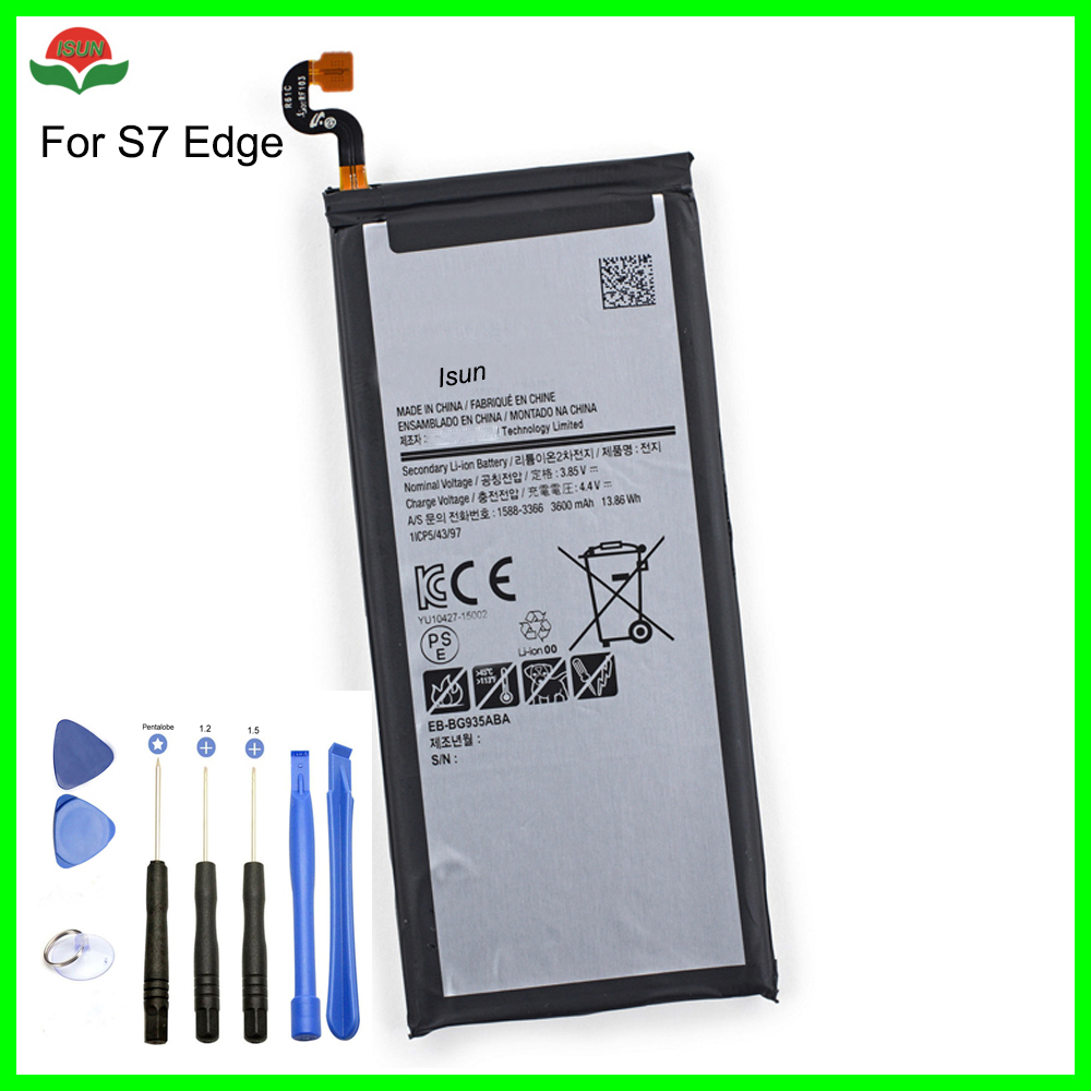 3600mah-Battery S7-Edge Samsung Galaxy Original For With Free-Tools Quality ISUN