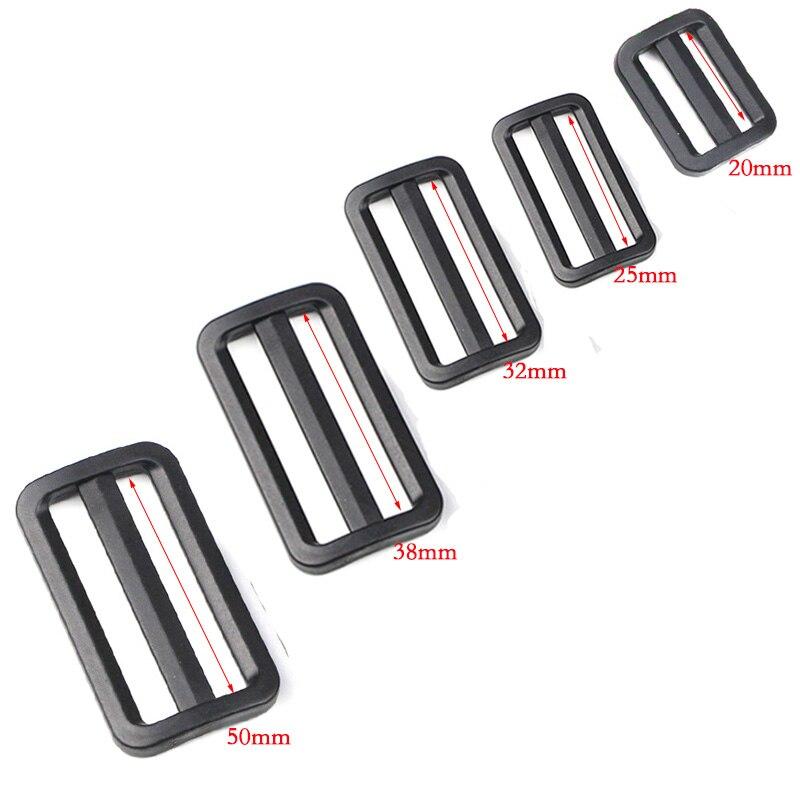 10 Stks Plastic Tri-glijdt Slider Verstelbare Gespen Sluitingen Voor Rugzakken Bandjes Kleding Schoenen Bag Kat Halsband Diy Accessoires
