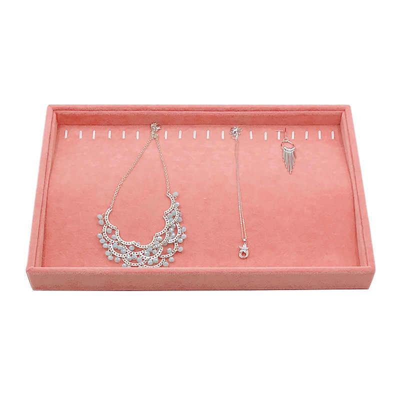 Jewelry Storage Tray Velvet Jewelry Storage Box Ring Earring Necklace Display Tray Stand Holder MultiFunction Bracelet Organizer