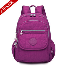 Washed Nylon Women Backpack Backpacks for Teenage Girls Female Bagpack Travel Bag mochila