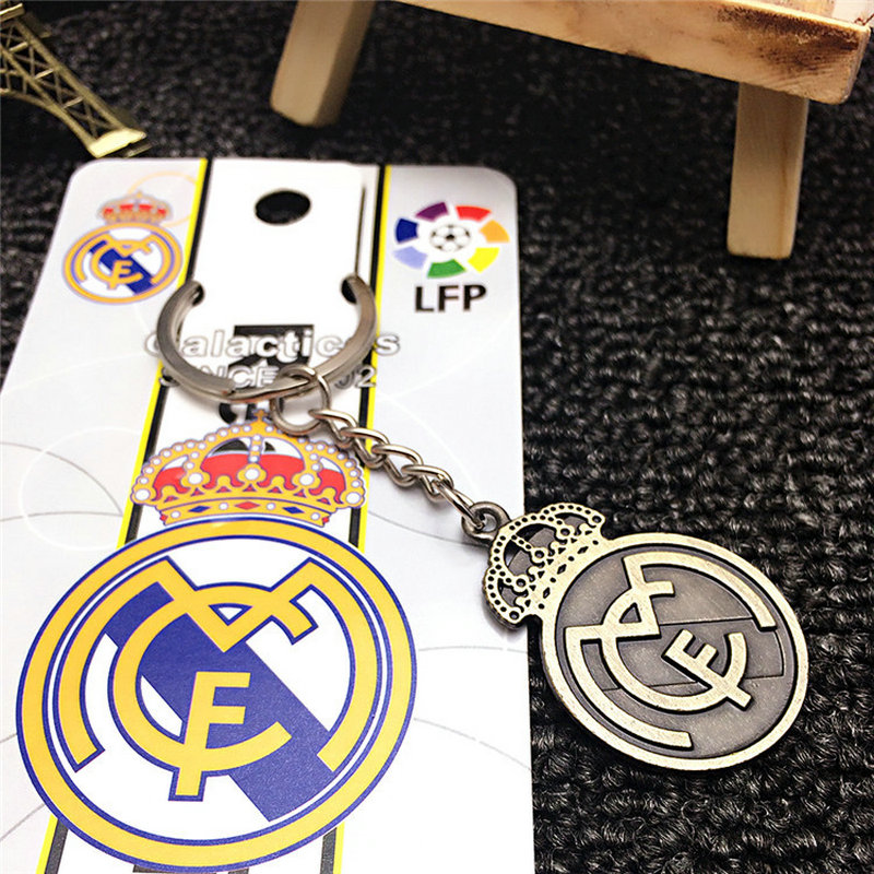 Car Jewelry Keychain Football Club Keychain European Football League Keyring Real Madrid