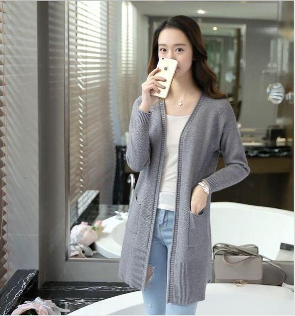 dc832ae68 long sweater cardigan sweater Womens 2017 new spring fashion ladies  outerwear western design