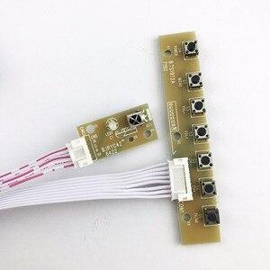 Image 5 - V56 Универсальный ЖК ТВ контроллер драйвер платы PC/VGA/HDMI/USB интерфейс с 40P lvds кабель 1ch 6 бит клавиатуры 561416