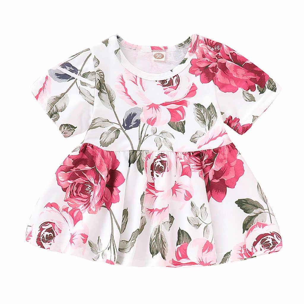 2b31caa82 Bebé niño Niñas Ropa conjunto Floral Babys niños tela de trajes de algodón  Tops + Denim agujero pantalones Jean traje L1220