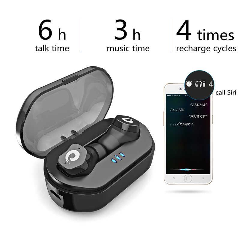 Langsdom bezprzewodowy zestaw słuchawkowy Bluetooth 5.0 słuchawki douszne IPX7 wodoodporna w ucho słuchawki douszne z mikrofonem sterowanie dotykowe zestaw słuchawkowy do telefonu