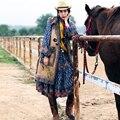 MX131 Nueva Llegada Del Otoño y El Invierno larga floja de la vendimia botón de la bocina capa del chaleco de gruesa piel de mongolia faux suede mujeres