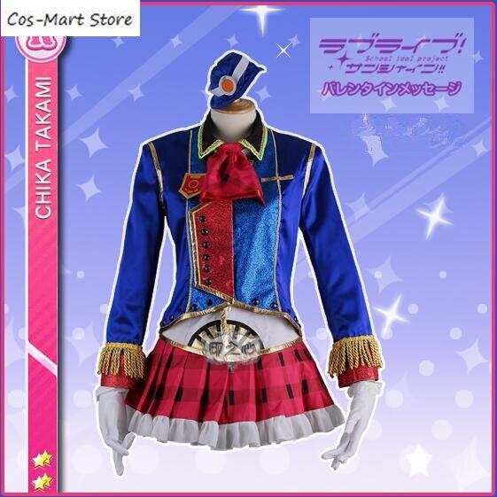 Япония Аниме Love Live! Солнце! Aqours таками Чика Happy Лолита платье Вечерние Поезд Форма Косплэй костюм Лидер продаж!