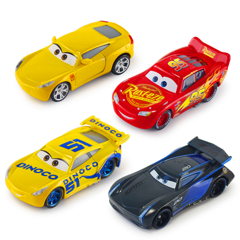 Disney Pixar Cars Cars 2 3 Lightning McQueen Jackson Storm Cruz Ramirez Mater Diecast Metal Alloy Cars Model Kid Christmas Toys disney pixar cars 3 new lightning mcqueen jackson storm cruz ramirez diecast alloy car model children s day gift toy for kid boy
