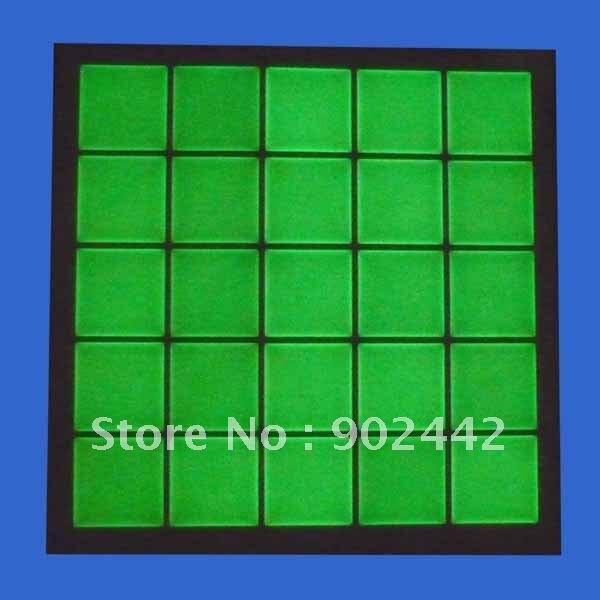 """2000 шт./Партия """" квадратная прозрачная декоративная наклейка из эпоксидной смолы светящаяся в темноте с зеленым светом для изготовления ювелирных изделий"""