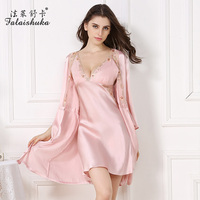 women silk robe night sleepwear floral women robe gown set 2pieces silk robes for bridesmaids red silk wedding robes plus size
