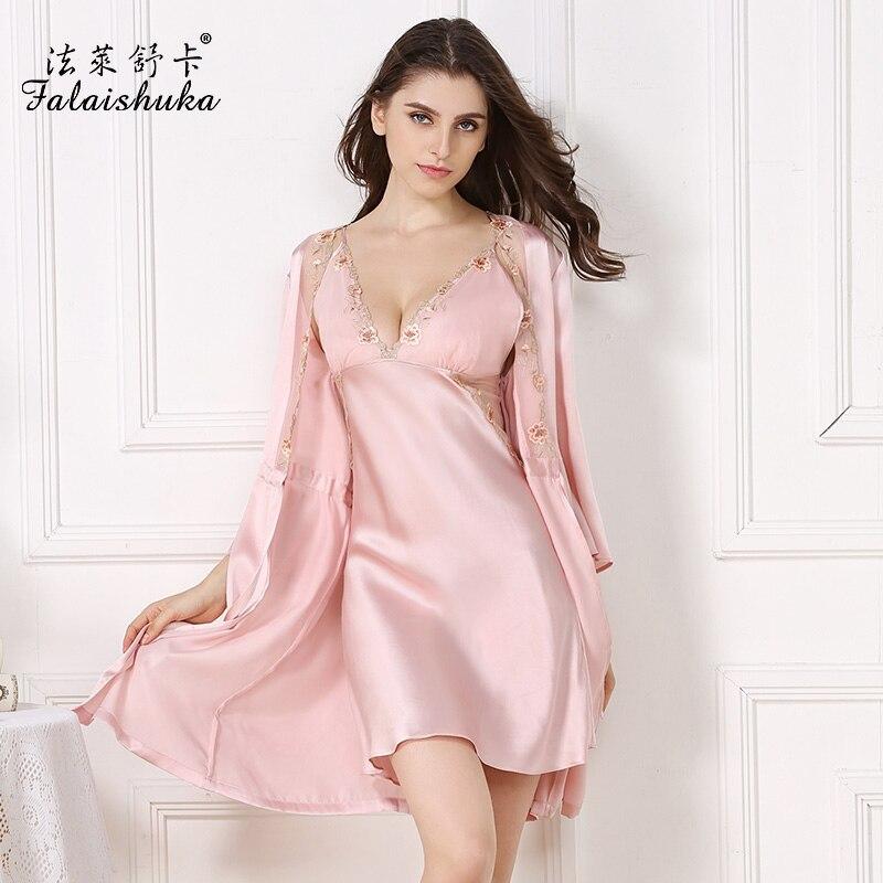 ženske svilene obleke nočne spalne obleke cvetlične ženske halje - Spodnje perilo
