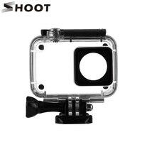 SHOOT 40M Diving Waterproof Case For Xiaomi YI 4K Xiaoyi 2 Action Camara Protective Housing Case