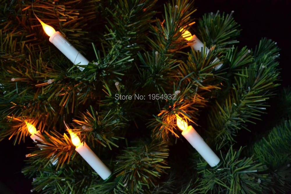 6pcs/set Christmas Tree LED Candles Lights Battery Operated with soft flame covering nice effect + Wireless Remote Control
