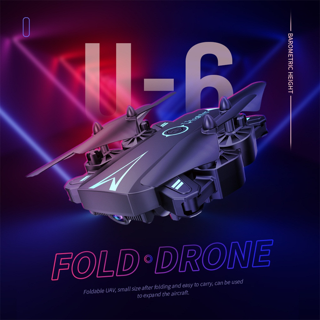 U6 Drone 4-Axis Remote Control Wifi HD Camera - Real-time transmission 1800Mah Folding Large Capacity Battery DroneU6 Drone 4-Axis Remote Control Wifi HD Camera - Real-time transmission 1800Mah Folding Large Capacity Battery Drone