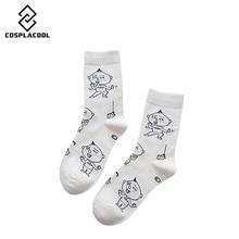 [COSPLACOOL] Japanese Harajuku Creative Funny Lovers Socks Women Kawaii Animation Cute Maruko Pattern Cotton Socks calcetines