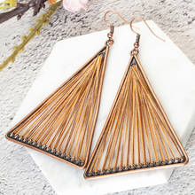 4 Colors 2018 Vintage Geometric Triangle Dangle Hanging Boho Bohemian Ethnic Drop Earrings for Women Party Jewelry Accessories
