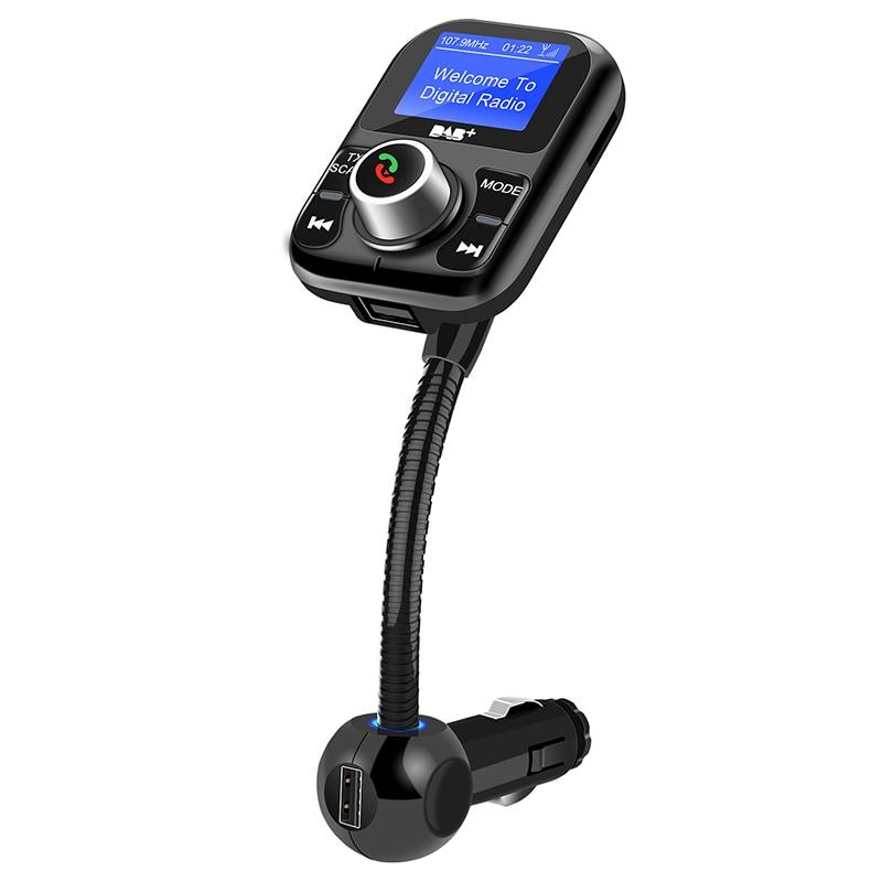 Émetteur FM Bluetooth Nulaxy récepteur DAB Kit mains libres Bluetooth avec écran LCD prend en charge le chargeur de voiture USB DAB U Disk TF