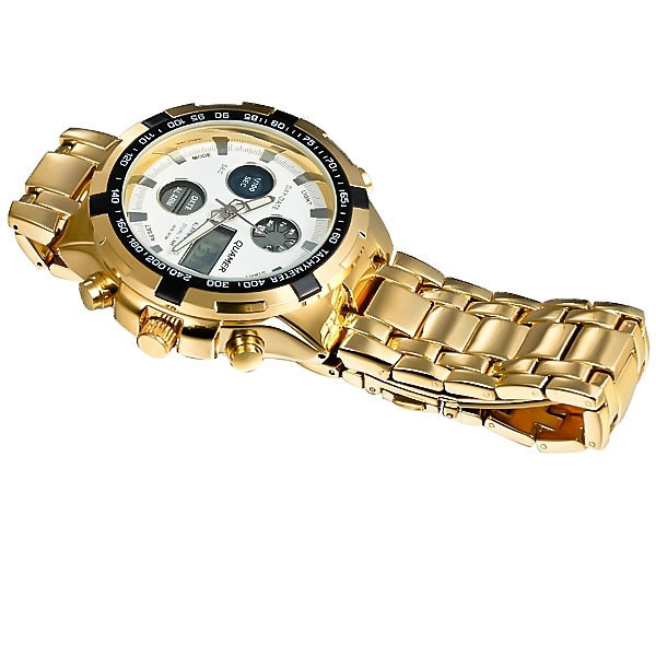 Image 4 - Military Watches Men Luxury Brand Full Steel Watch Sports Quartz Multi function LED Waterpoof Gold Wristwatch Relogio Masculinomasculinomasculinos relogiosmasculino watch -