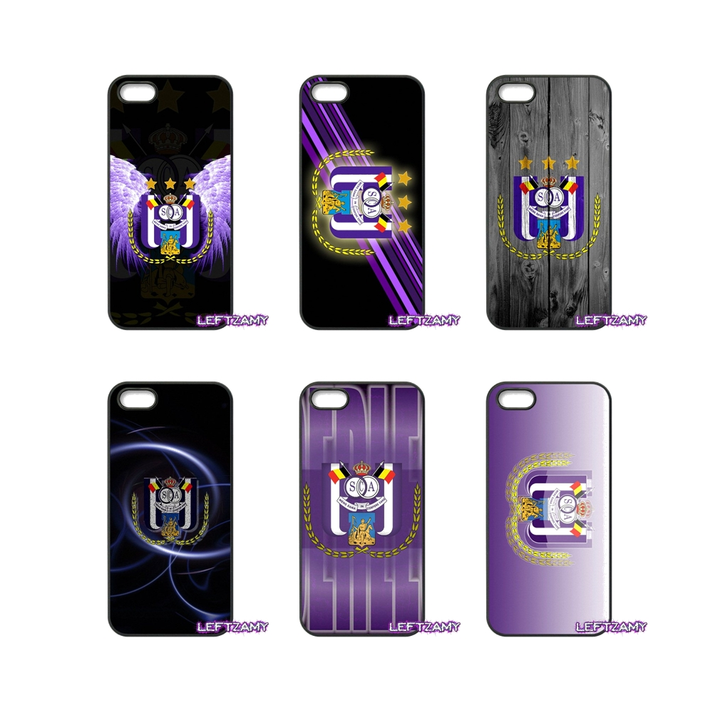 RSC Anderlecht logo Pattern Hard Phone Case Cover For iPhone 4 4S 5 5C SE 6 6S 7 8 Plus X 4.7 5.5 iPod Touch 4 5 6