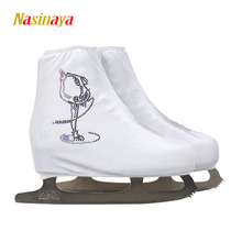 24 Colors Child Adult Velvet Ice Skating Figure Skating Shoes Cover Roller Skate Fabric Accessories White Skater Rhinestone