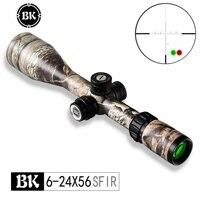 Bobcat King 6 24X56 SFIR Rifle Scopes Airsoft Hunting Scope Traffic Light Illumination Sniper Tactical Optical Sight