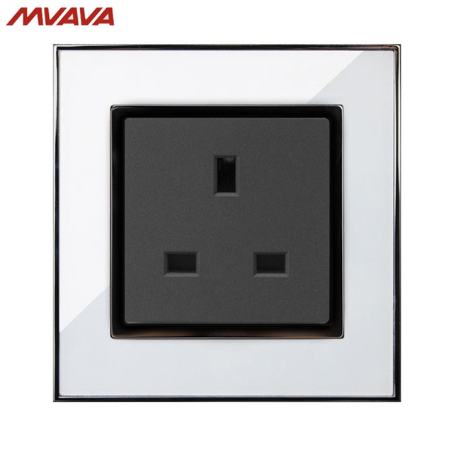 MVAVA 13A Socket Electrical Wall Receptacle 3 Pin Outlets AC110V ...