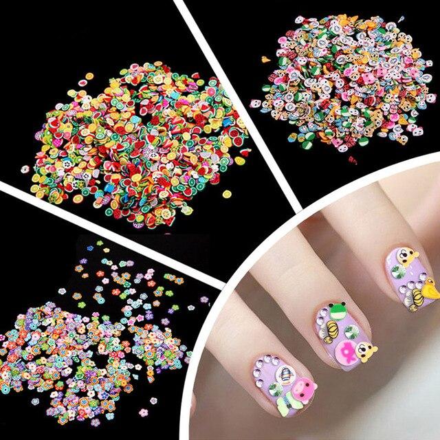 1000 Stks 3 Stijl Diy 3d Nail Art Stickers Decals Decoraties Fruit