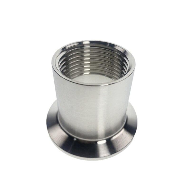 1/2 -2 (DN15-DN50) adaptateurs pour chauffage sanitaire en acier inoxydable SS304 femelle fileté Ferrule raccords de tuyauterie Tri-pince