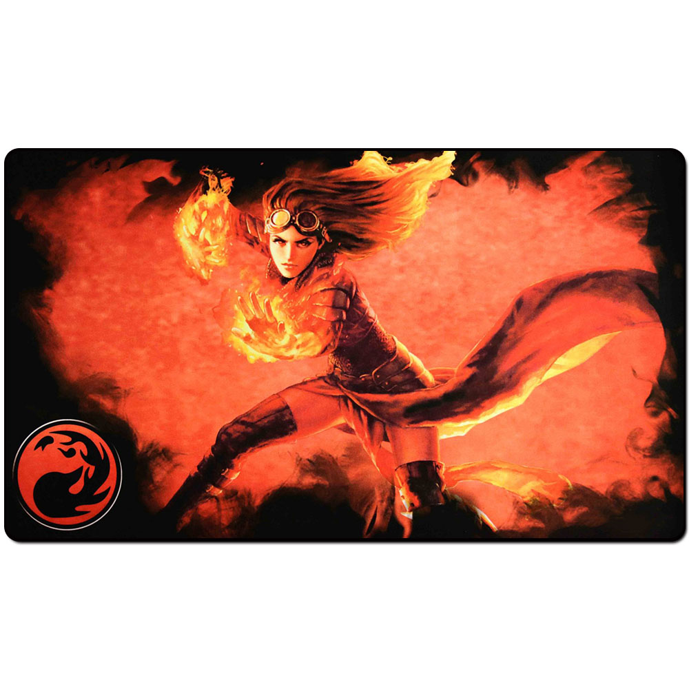 Magic trading card game Playmat: mana 4 planeswalkers chandra art playmat for trading card game 60cm x 35cm (24 x 14) Size image