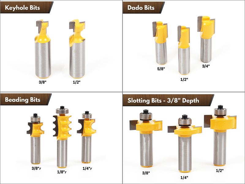 """Image 3 - 1/2"""" Shank 70 Bit Professional C3 Carbide Router Bit Set   CHWJW 17702-in Milling Cutter from Tools"""