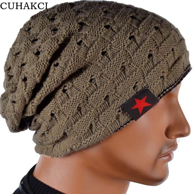 Winter Warm New Fashion For Men Skull Chunky Women Knit Beanie Reversible  Baggy Snow Cap Warm Unisex Hat 8 Colors M003 c44a1fcf9d40