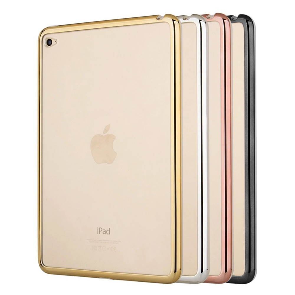 new For ipad A1822 A1823 Case Slim Crystal Clear Plating TPU + PC soft shell Back Cover For 2017 new ipad 3PCS Free Gifts case for ipad air 2 pocaton for tablet apple ipad air 2 case slim crystal clear tpu silicone protective back cover soft shell