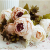 Bouquet Of Flowers Of European Small Plastic Pink Roses Decorative Garden High Quality Wedding Gift