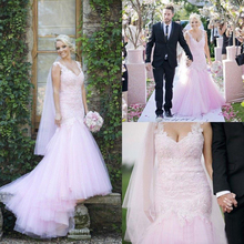 BRITNRY Vestido De Noiva Pink Sweetheart Wedding Dresses