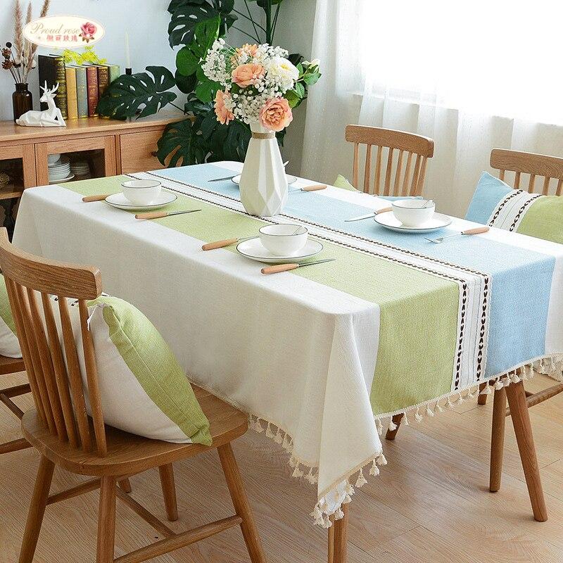 גאה עלה פשתן שולחן בד פשוט רשת שולחן כיסוי ספת מגבת מלבן רקום מפות כיסוי מגבת מותאם אישית