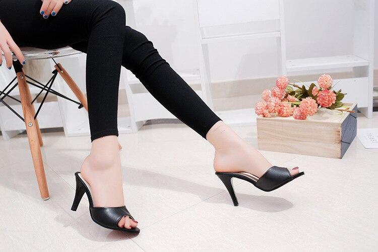 HTB1Fs1nbErrK1RkSne1q6ArVVXaD HOKSVZY Women Slipper 2019 Slippers women's Fashion Wear Stiletto Fish Mouth Stiletto Sandals Slippers women's Sandals FZZ-2902