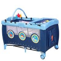 Подвижной складной Портативный младенцев кровать детская складная манеж дети Постельные принадлежности кроватки компактный и Портативны