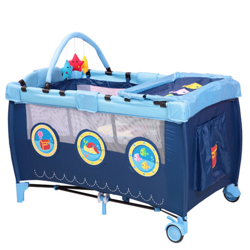 Movable Folding Portable Babies Bed Collapsible Baby Playpen Kids Bedding Cribs Compact and Portable Baby Bed Crib Playpen Beds